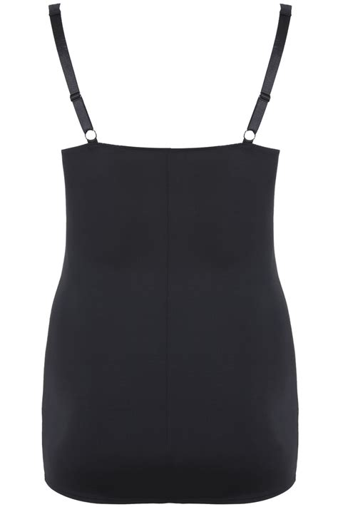 c add to container with templates black underbra smoothing slip dress with firm control plus