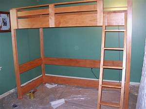 building plans for loft bed with desk Quick Woodworking