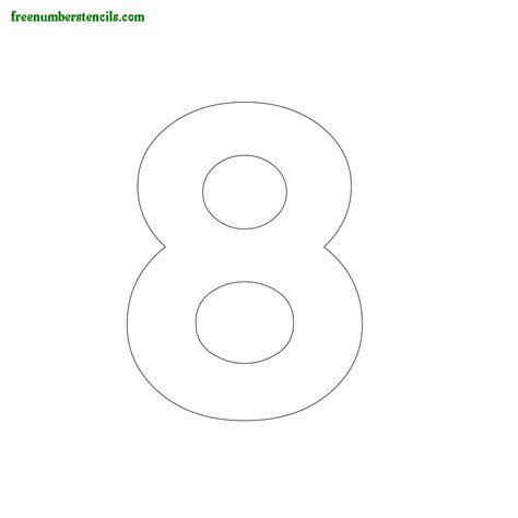 Hausnummer Schablonen Vorlagen by Modern Number Stencils Printable