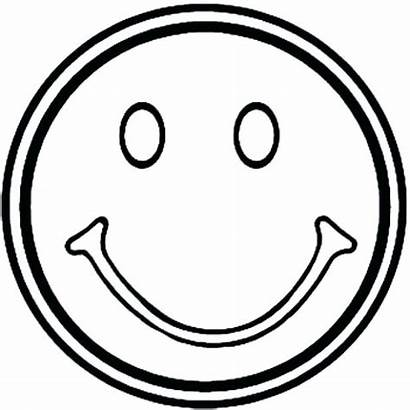 Smiley Coloring Face Happy Pages Sad Smile
