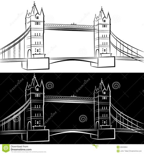 London Bridge Drawing stock vector. Illustration of ...