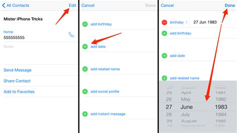 how to add to iphone how to set birthday alerts on your iphone
