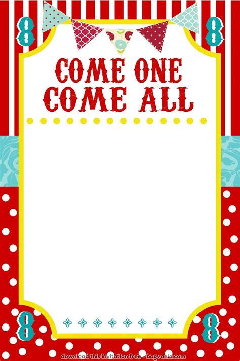carnival event invitation ticket template circus ticket invitation template free sle memo yourweek 1e9975eca25e