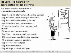Dental Assistant Cover Letter Samples Assistant Store Keeper Interview Questions