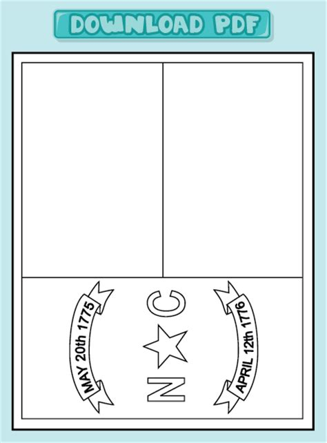 worksheets state flag coloring pages north carolina state