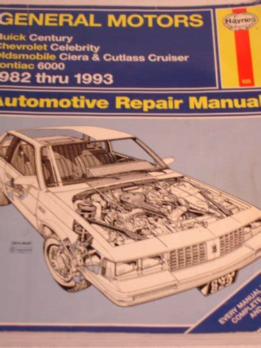 manual repair autos 1983 pontiac 6000 free book repair manuals general motors buick century chevrolet celebrity oldsmobile ciera and cutlass cruiser