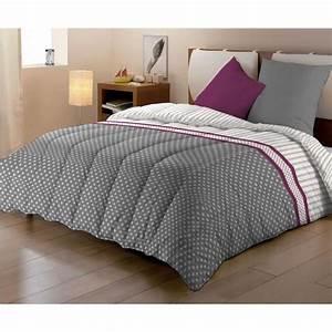 Couette Couleur 220x240 : dodo couette imprim e meloa 220x240 cm gris et violet ~ Teatrodelosmanantiales.com Idées de Décoration