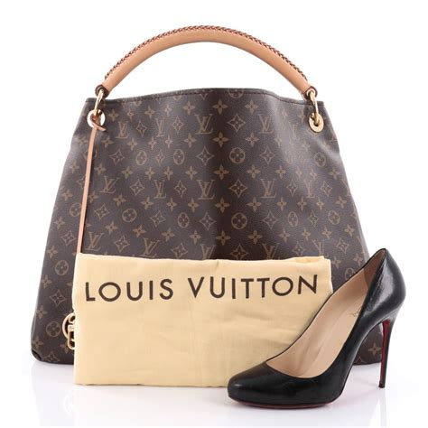 buy louis vuitton artsy handbag monogram canvas gm brown  rebag