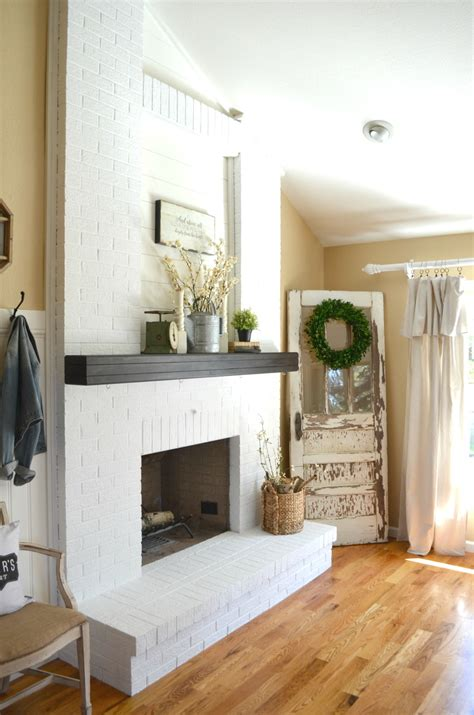 how to paint a brick fireplace vintage nest