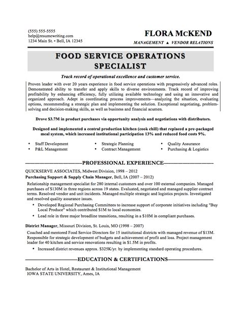 cv cuisine what your resume should look like