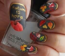 Autumn leaf nail art designs ideas fall nails