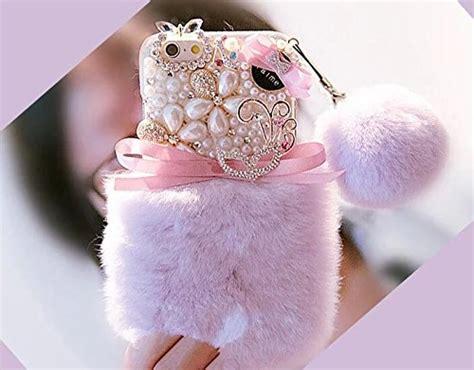 iphone 7 plus iphone 7 plus rabbit fur luxury sparkle bling rhinestone