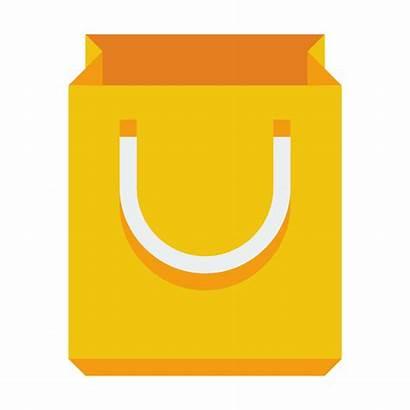 Icon Bag Shopping Icons Flat Basket Yellow