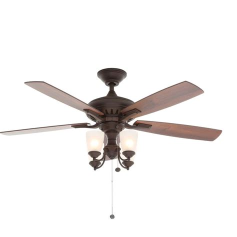 hton bay transitional collection ceiling fan clarkston 44 in indoor oil rubbed bronze ceiling fan with