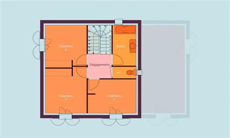 plan maison à étage 4 chambres plan maison 1 chambre maison 1 dtail du plan de maison 1