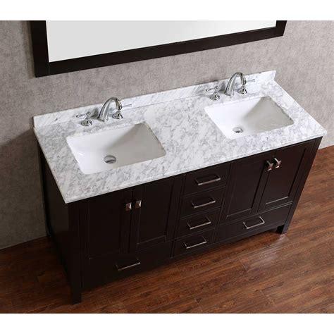 wood bathroom vanities buy vnicent 60 quot solid wood bathroom vanity in