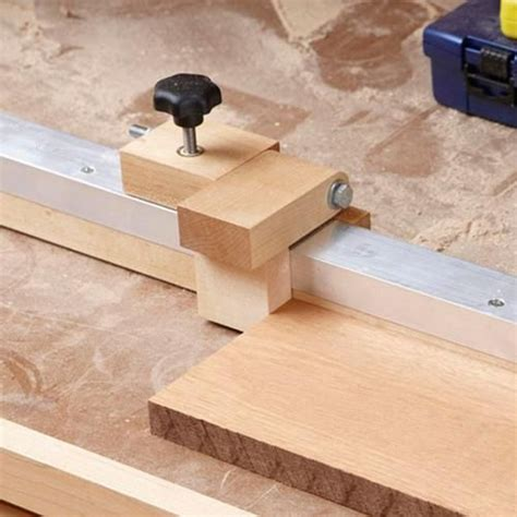 radial arm sawmitersaw fence stop woodworking plan