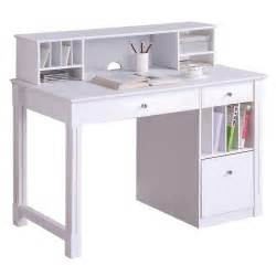walker edison deluxe solid wood desk w hutch white by oj commerce dw48d30 dhwh 399 00