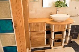 Plan De Meuble : fabrication d 39 un meuble de salle de bain avec plan vasque en ch ne ~ Melissatoandfro.com Idées de Décoration