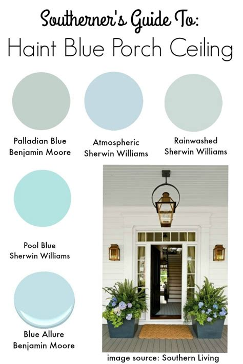 Porch Paint Colors Benjamin by Southern Tradition How To Add Haint Blue Porch Ceiling
