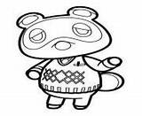 Crossing Animal Coloring Nook Coloriage Tom Printable Head Kawaii Dessin sketch template