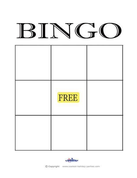 blank bingo