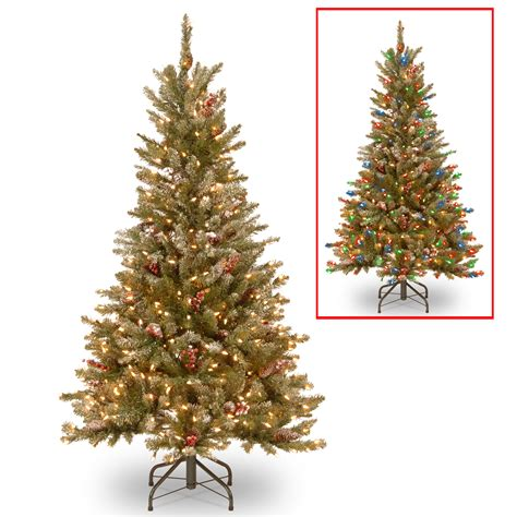 National Tree Company 5ft Frosted Mountain Fir Slim Hinged