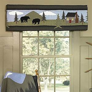 Designer Window Valances Donna Sharp Bear Lake Window Valance Bed Bath Beyond