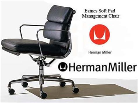 eames aluminum soft pad office task desk chairs by