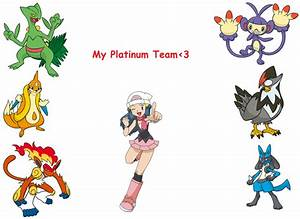 My Pokemon Platinum Team By Infernapelover On Deviantart