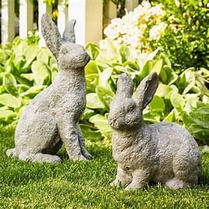 Bunny, Garden, Statues