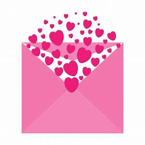 Hearts Envelope Pink Clipart Free Stock Photo - Public ...