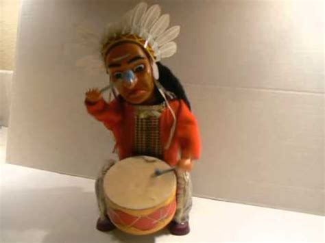 vintage chief indian joe drumming battery operated toy