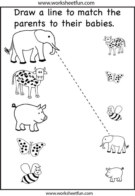 preschool matching worksheet printables pinterest
