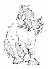 Gypsy Coloring Horse Pages Lineart Vanner Drawing Adult Deviantart Drawings Horses Friesian Requay Colouring Clydesdale Line Adults Books Number Head sketch template