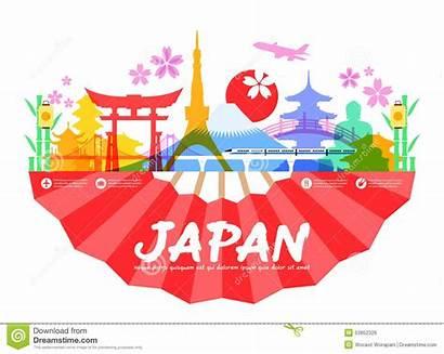 Japan Travel Illustration Vector Landmarks Culture Doodle