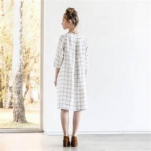 Not Perfect Linen : not perfect linen washed and soft linen dress large checks ~ Buech-reservation.com Haus und Dekorationen