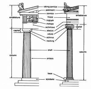 Anatomy Of Doric And Ionic Columns  Doric Has No Base  An