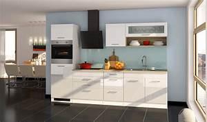 Küche 240 Cm Mit Elektrogeräten : k chenzeile m nchen vario 2 k che mit e ger ten breite 290 cm hochglanz wei k che ~ Bigdaddyawards.com Haus und Dekorationen