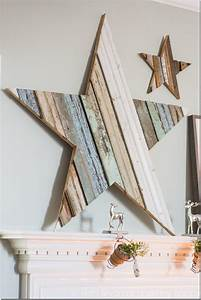 DIY Wood Star Mantlepiece Tutorial - Decorate Your