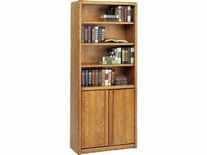 """Contemporary Bookcase with Doors 30""""Wx70""""H, Office Bookcases"""