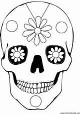 Coloring Dead Skulls Sugar Craft Activities Muertos Mask Easy Calavera Printable Los Skull Masks Pages Preschool Halloween Daisies Crafts Fun sketch template