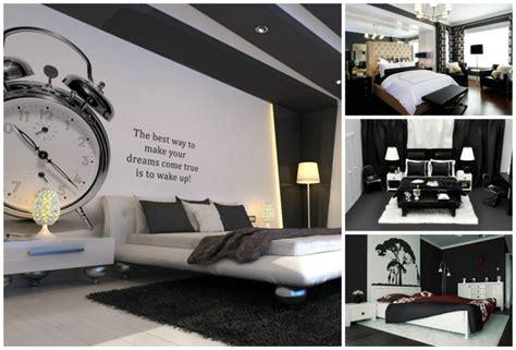 chambre à coucher blanc et noir idee deco chambre meuble noir raliss com