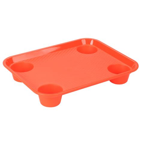 get ft 20 or 14 quot x 17 quot orange plastic fast food tray with