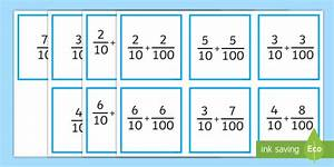 Adding Tenths And Hundredths Matching Game