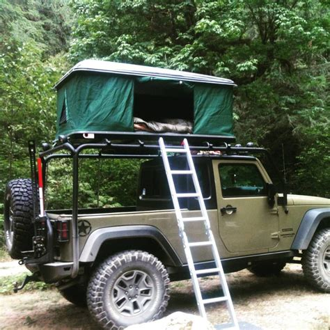 jeep wrangler overland tent j m rocking his custom jeep sporting a bigfoot hardshell