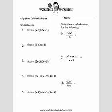Algebra 2 Practice Worksheet  Free Printable Educational Worksheet