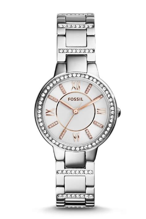 Fossil Es 3741 fossil es3741 virginia three stainless steel