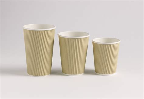 12oz Kraft Ripple Paper Cups