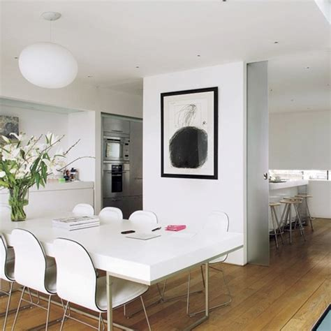 White Modern Kitchen Ideas - kitchen diner ideas for easy living ideal home